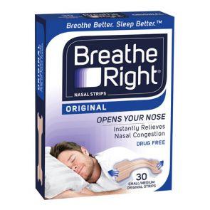 Breathe Right Nasal Strips Tan Regular 30