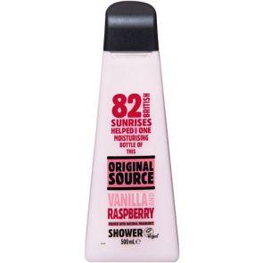 Original Source Shower Gel Vanilla & Rasberry 500Ml