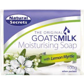 Natural Secrets Goats Milk Moisturising Soap Lemon Myrtle 100G