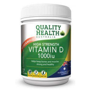 Quality Health High Strength Vitamin D Capsules 1000Iu 300