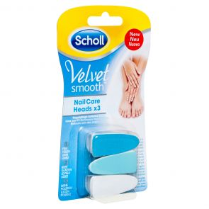 Scholl Velvet Smart Nail Care Heads Blue 3