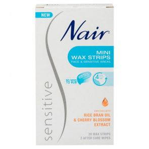 Nair Sensitive Wax Strips Mini 20
