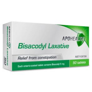 Apohealth Bisacodyl Laxative Tablets 5Mg 50