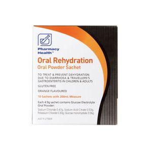 Pharmacy Health Oral Rehydration 4.9g 10 Sachets