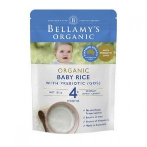 Bellamy's Organic Baby Rice with Gos 125g