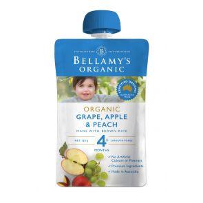 Bellamy's Organic Grape, Peach & Apple 120g