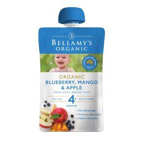 Bellamy's Organic Blueberry, Mango & Apple 120g