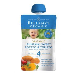 Bellamy's Organic Pumpkin, Sweet Potato & Tomato 120g