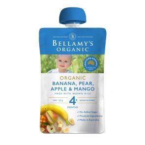 Bellamy's Organic Banana, Pear, Apple & Mango 120g