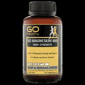 GO Healthy Magnesium 800 120 Vege Caps