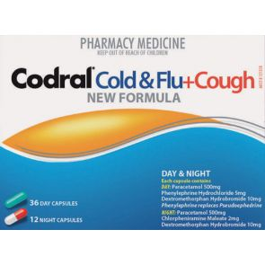 Codral Phenylephrine Cold And Flu + Cough Capsules 48