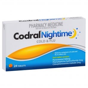 Codral Phenylephrine Night Time Tablets 24