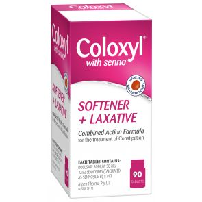 Coloxyl with Senna Softener + Laxative Tablets 90#