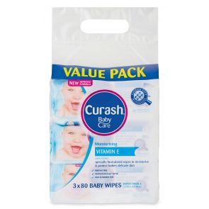Curash Baby Wipes Soap Free 80 3 Pack
