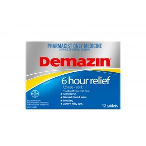 Demazin 6 Hour Tablets 12