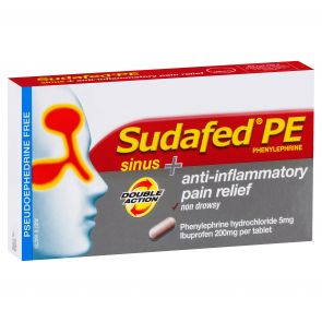 Sudafed Pe Sinus &  Anti-Inflamatory Pain Relief Tablets 48