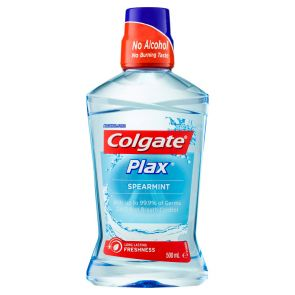 Plax Mouthwash Spearmint Alcohol Free 500Ml