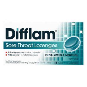 Difflam Sore Throat Lozengesenges Eucalyptus And Menthol 16