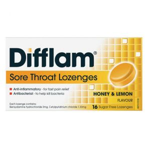 Difflam Sore Throat Lozengesenges Honey And Lemon 16