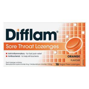 Difflam Sore Throat Lozengesenges Orange 16