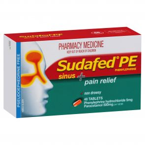 Sudafed Pe Sinus & Pain Relief Tablets 48