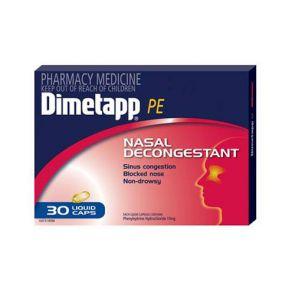 Dimetapp Pe Nasal Liquid Caps 30