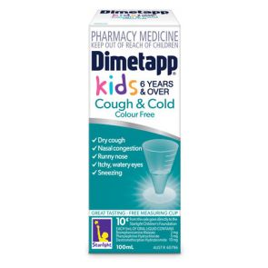 Dimetapp Cough & Cold Colour Free Liquid 100Ml