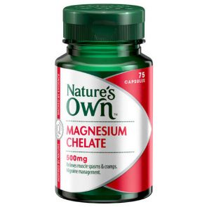 Nature'S Own Magnesium Chelate Capsules 500Mg 75