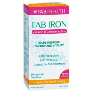 Fab Iron + Vitamin B Complex + Zinc Capsules 60