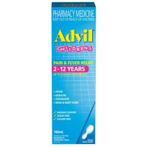 Advil Childrens Pain & Fever 2 - 12 Years Suspension 100Ml